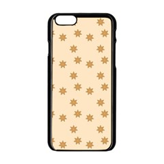 Pattern Gingerbread Star Apple Iphone 6/6s Black Enamel Case by Simbadda
