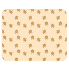 Pattern Gingerbread Star Double Sided Flano Blanket (medium)  by Simbadda