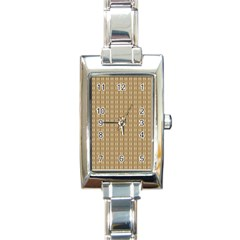 Pattern Background Brown Lines Rectangle Italian Charm Watch by Simbadda