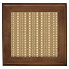 Pattern Background Brown Lines Framed Tiles by Simbadda