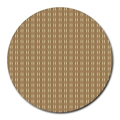 Pattern Background Brown Lines Round Mousepads by Simbadda