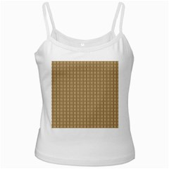 Pattern Background Brown Lines White Spaghetti Tank by Simbadda