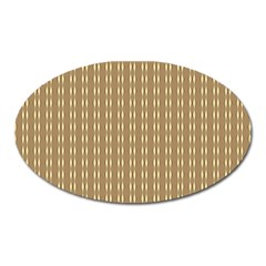 Pattern Background Brown Lines Oval Magnet by Simbadda