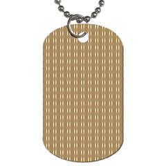 Pattern Background Brown Lines Dog Tag (two Sides) by Simbadda