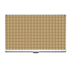 Pattern Background Brown Lines Business Card Holders by Simbadda