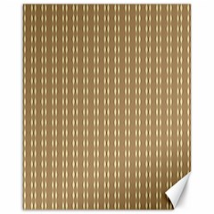 Pattern Background Brown Lines Canvas 16  X 20   by Simbadda