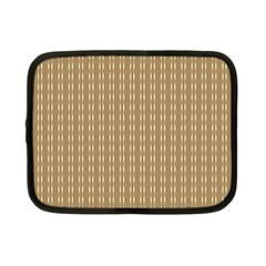 Pattern Background Brown Lines Netbook Case (small)