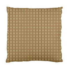 Pattern Background Brown Lines Standard Cushion Case (two Sides) by Simbadda