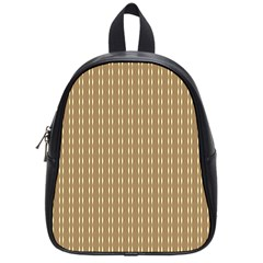 Pattern Background Brown Lines School Bags (small)  by Simbadda