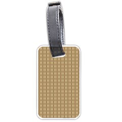Pattern Background Brown Lines Luggage Tags (two Sides)