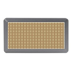 Pattern Background Brown Lines Memory Card Reader (mini) by Simbadda
