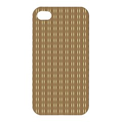 Pattern Background Brown Lines Apple Iphone 4/4s Premium Hardshell Case