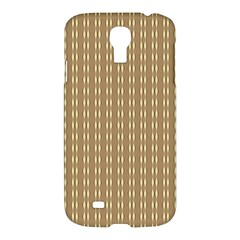 Pattern Background Brown Lines Samsung Galaxy S4 I9500/i9505 Hardshell Case by Simbadda
