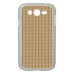 Pattern Background Brown Lines Samsung Galaxy Grand DUOS I9082 Case (White) Front