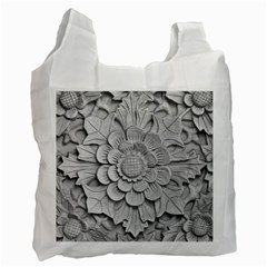 Pattern Motif Decor Recycle Bag (one Side) by Simbadda