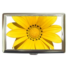 Transparent Flower Summer Yellow Cigarette Money Cases by Simbadda