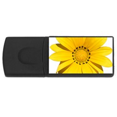 Transparent Flower Summer Yellow Usb Flash Drive Rectangular (4 Gb) by Simbadda