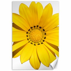 Transparent Flower Summer Yellow Canvas 12  X 18   by Simbadda