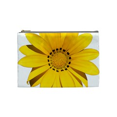 Transparent Flower Summer Yellow Cosmetic Bag (medium)  by Simbadda