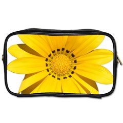 Transparent Flower Summer Yellow Toiletries Bags by Simbadda