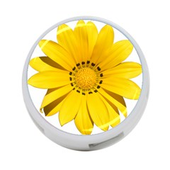 Transparent Flower Summer Yellow 4 Port Usb Hub (two Sides)  by Simbadda