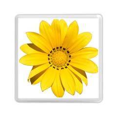 Transparent Flower Summer Yellow Memory Card Reader (square)