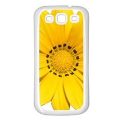 Transparent Flower Summer Yellow Samsung Galaxy S3 Back Case (white)