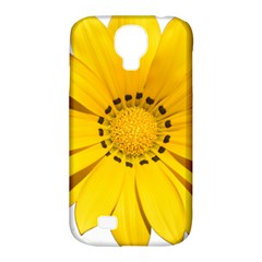 Transparent Flower Summer Yellow Samsung Galaxy S4 Classic Hardshell Case (pc+silicone) by Simbadda