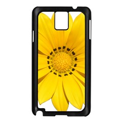 Transparent Flower Summer Yellow Samsung Galaxy Note 3 N9005 Case (black) by Simbadda