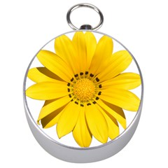 Transparent Flower Summer Yellow Silver Compasses