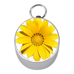 Transparent Flower Summer Yellow Mini Silver Compasses by Simbadda
