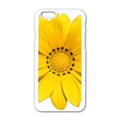 Transparent Flower Summer Yellow Apple Iphone 6/6s White Enamel Case by Simbadda