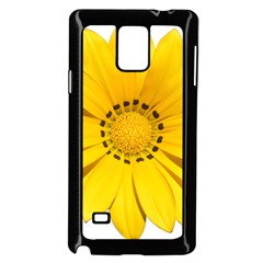 Transparent Flower Summer Yellow Samsung Galaxy Note 4 Case (black) by Simbadda