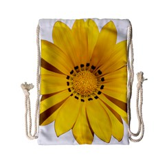 Transparent Flower Summer Yellow Drawstring Bag (small)