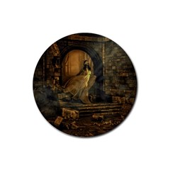 Woman Lost Model Alone Rubber Coaster (round)  by Simbadda