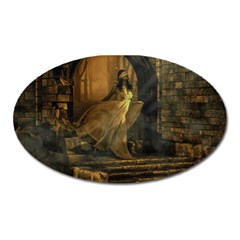 Woman Lost Model Alone Oval Magnet by Simbadda