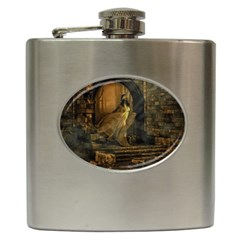 Woman Lost Model Alone Hip Flask (6 Oz) by Simbadda