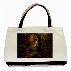 Woman Lost Model Alone Basic Tote Bag (two Sides) by Simbadda