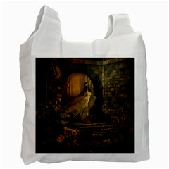 Woman Lost Model Alone Recycle Bag (two Side)  by Simbadda