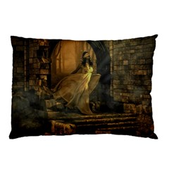 Woman Lost Model Alone Pillow Case (two Sides) by Simbadda