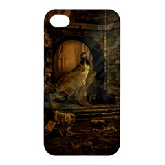 Woman Lost Model Alone Apple Iphone 4/4s Hardshell Case by Simbadda