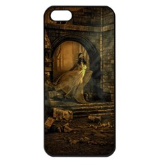 Woman Lost Model Alone Apple Iphone 5 Seamless Case (black) by Simbadda