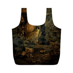 Woman Lost Model Alone Full Print Recycle Bags (m)  by Simbadda