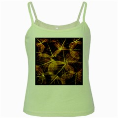 Leaves Autumn Texture Brown Green Spaghetti Tank by Simbadda
