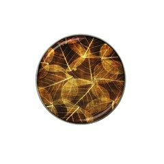 Leaves Autumn Texture Brown Hat Clip Ball Marker (4 Pack) by Simbadda