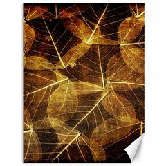 Leaves Autumn Texture Brown Canvas 36  X 48   by Simbadda