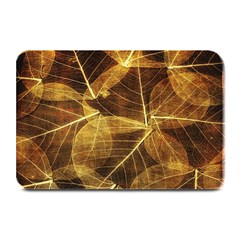 Leaves Autumn Texture Brown Plate Mats by Simbadda