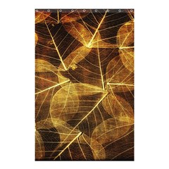 Leaves Autumn Texture Brown Shower Curtain 48  X 72  (small)  by Simbadda