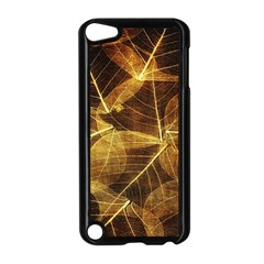 Leaves Autumn Texture Brown Apple Ipod Touch 5 Case (black) by Simbadda