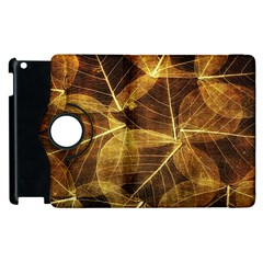Leaves Autumn Texture Brown Apple Ipad 3/4 Flip 360 Case by Simbadda